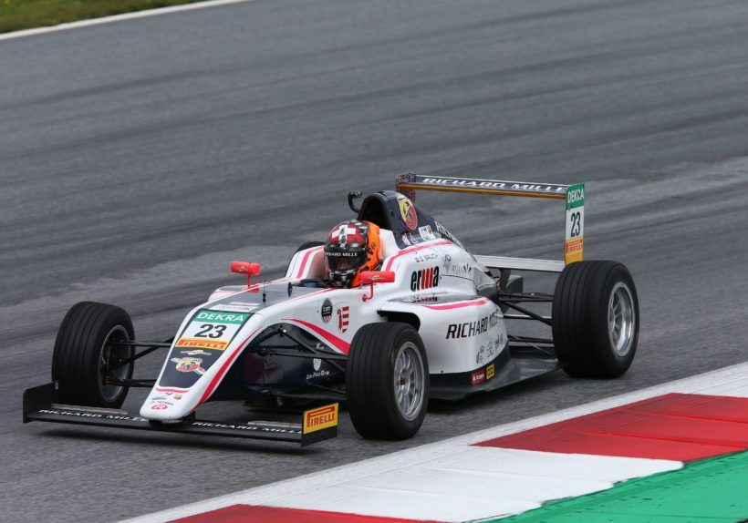 Gregoire Saucy (R-ace GP,Tatuus F.4 T014 Abarth #23)